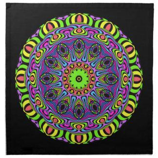 Ta tid på mandalaen - neon 1 tygservett