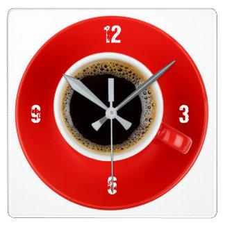 Ta tid på med Americano kaffe Fyrkantig Klocka