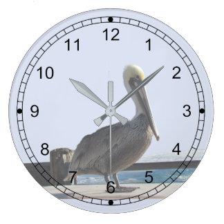 Ta tid på - pelikan på klockan stor rund klocka