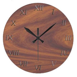 Ta tid på - woodgrainen med metalltal stor klocka