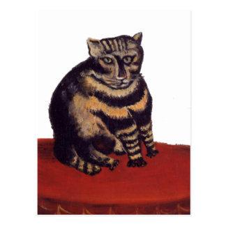 Tabby katt av Henri Rousseau Vykort