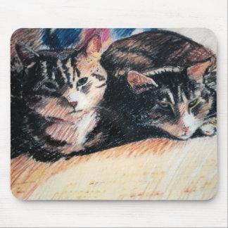 """Tabby katt """"Catpad"""" Mousepad Musmatta"""