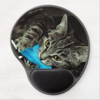 Tabby katt med fjädern av Shirley Taylor Gel Musmatta