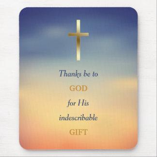 Tack är till gudkristenkor Mousepad Musmatta