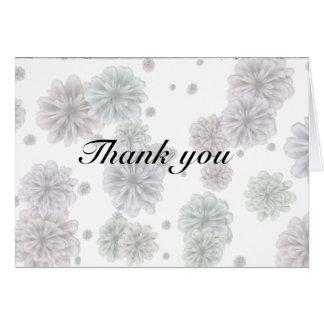 Tack - dämpade Petals OBS Kort
