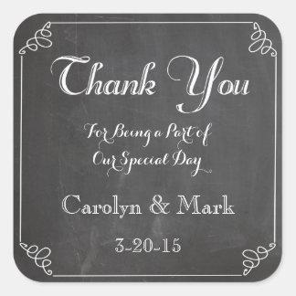 Tack etiketter för svart tavlavintage bröllopfavör