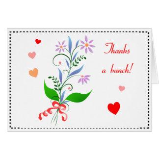 Tack ett gruppblommigtkort hälsningskort