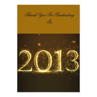 Tack för att avlägga examen i 2013 12,7 x 17,8 cm inbjudningskort