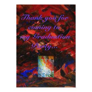 Tack för att delta i min studenten 12,7 x 17,8 cm inbjudningskort