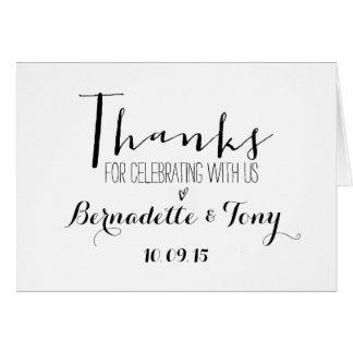Tack för att fira med oss! Brölloptack OBS Kort