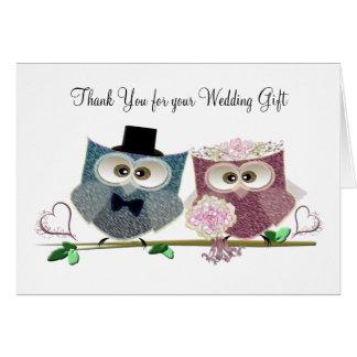 Tack för att gifta sig gåvahälsningkortet hälsningskort