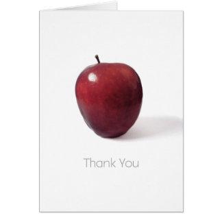 Tack för att vara en underbar lärare Apple Hälsningskort
