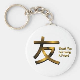 Tack för att vara en vän Keychain Rund Nyckelring