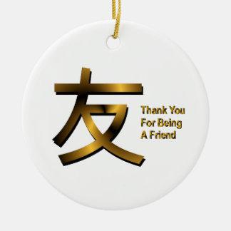 Tack för att vara en vänprydnad julgransprydnad keramik