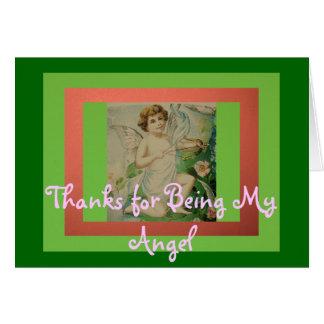 Tack för att vara min ängel hälsningskort