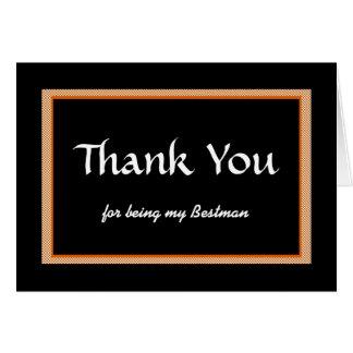 Tack för att vara min Bestman Hälsningskort
