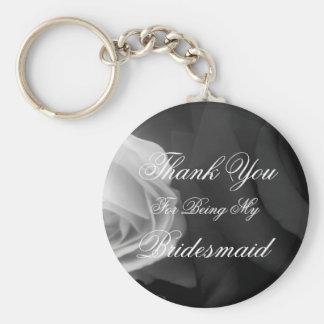 Tack för att vara min brudtärna rund nyckelring