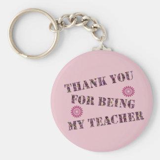 Tack för att vara min lärareanpassningsbarbakgrund rund nyckelring