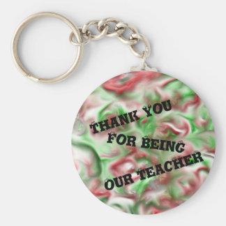 Tack för att vara våra lärarejulfärger rund nyckelring