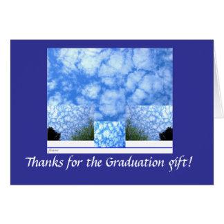 Tack för blå himmelfotostudenten hälsningskort