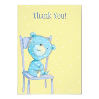 Tack för blåttCalicobjörn 12,7 X 17,8 Cm Inbjudningskort
