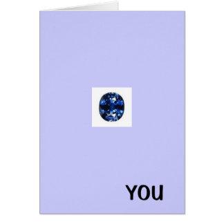 Tack för blåttdiamantkort, grattis på födelsedagen kort