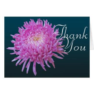 Tack för blommigt för mod för rosa OBS kort