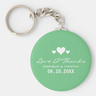 Tack för bröllop för älsklingMintgrönt Rund Nyckelring