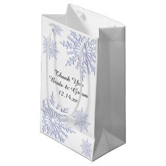 Tack för bröllop för blåttsnöflingorvinter