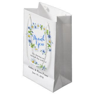 Tack för bröllop för daisy för blåttvitland blom-