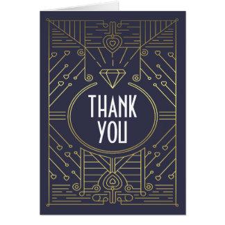 Tack för bröllop för för art décovintagemarin och OBS kort
