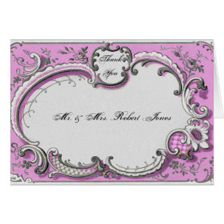 Tack för bröllop för franskDeco ram Posh OBS Kort