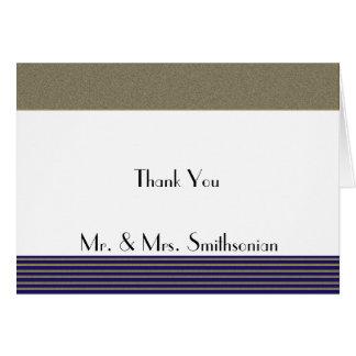 Tack för bröllop för marinart déco Posh OBS Kort