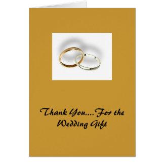 Tack….,För bröllopgåvan Hälsningskort