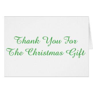 Tack för den julgåvan, viten och green.en hälsningskort