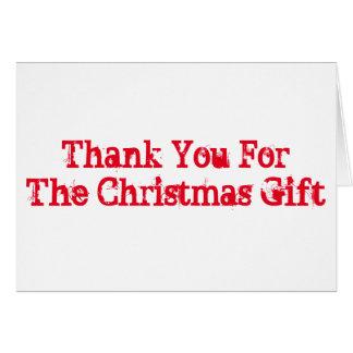 Tack för den julgåvan, viten och red.en hälsningskort