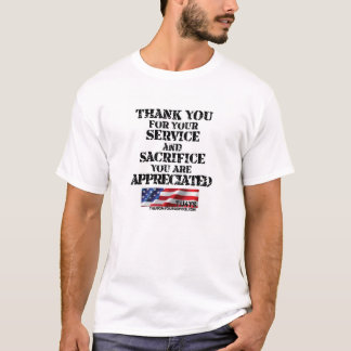 Tack för din tjänste- T-tröja T-shirts