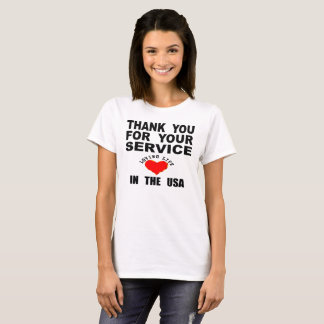 Tack för ditt tjänste- älska liv i USA Tshirts
