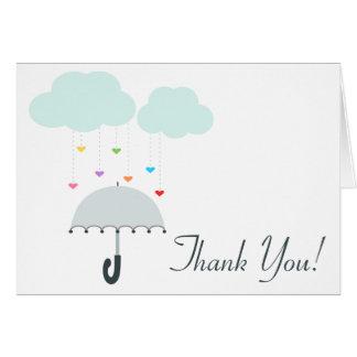 Tack för dusch för paraply för regnbågeRaindrops OBS Kort