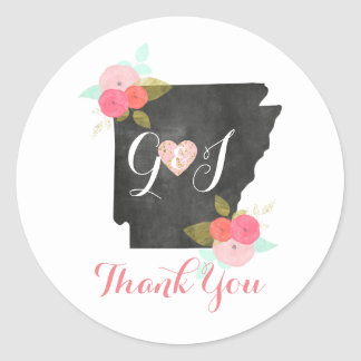 Tack för favör för Arkansas statligt Runt Klistermärke