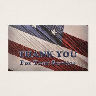 Tack för flagga USA för militära veteran Visitkort