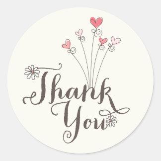 Tack för födelsedag för nyckfull daisykärlekflicka runt klistermärke