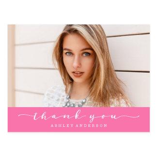 Tack för foto för klassikershock rosastudenten vykort