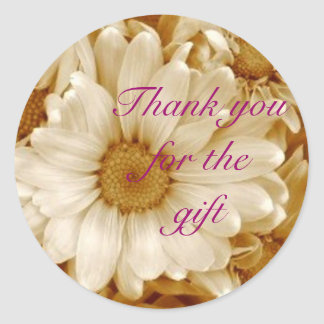 Tack för gåvan runt klistermärke