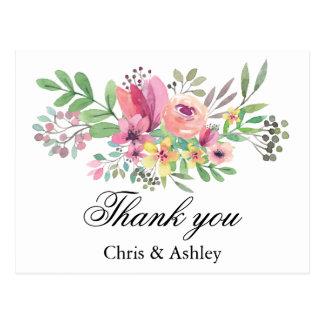 Tack för gift par för brölloptackkort vykort
