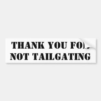 Tack för inte Tailgating (stencilera), Bildekal
