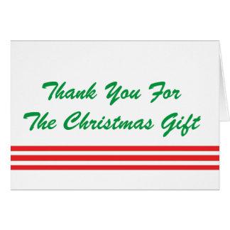 Tack för julgåvan, röda stripes. hälsningskort