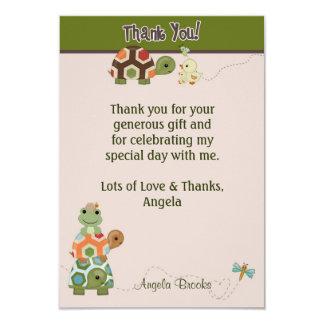Tack för Laguna SKÖLDPADDAbaby shower 8,9 X 12,7 Cm Inbjudningskort