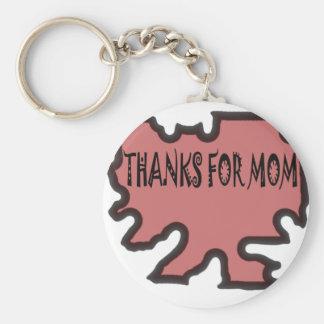 Tack för mamma rund nyckelring