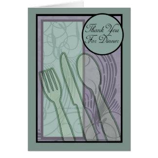 Tack för middagsnyggtkort hälsningskort